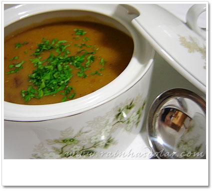 Sopa creme de mandioca
