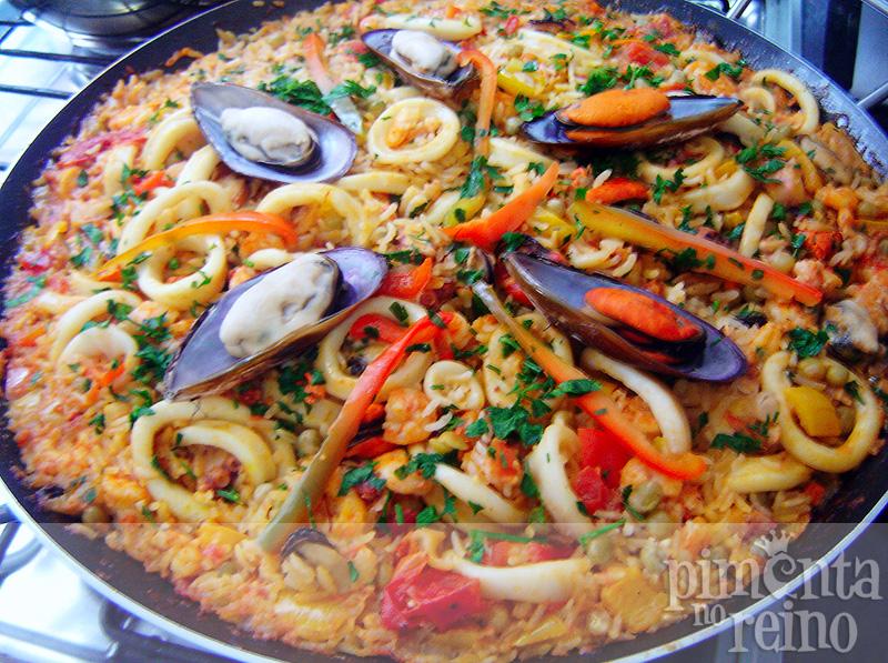 Paella de frutos do mar > Pimenta no Reino