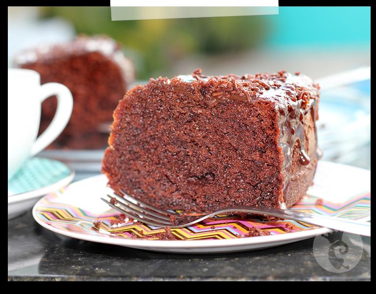 Bolo de chocolate ultra fofo com cobertura de Nutella