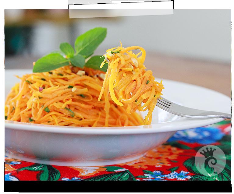 Espaguete de cenoura