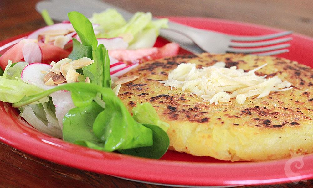 Batata suiça (Rösti) aos 3 queijos