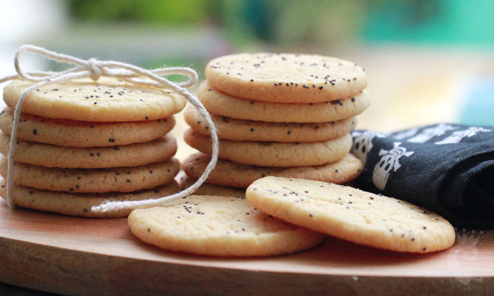 Cookies de laranja e papoula (e um trucão)