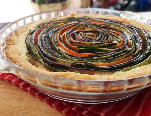 torta espiral de legumes